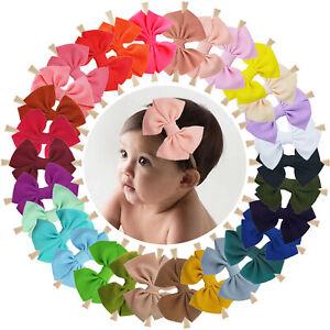 30pcs-4-5-034-Hair-Bows-Soft-Nylon-Stretchy-Headbands-for-Baby-Girl-Infants-Toddler