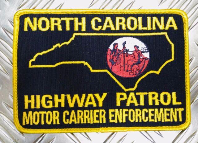 US North Carolina Highway Patrol M C E Large Shoulder Patch Badge PB07