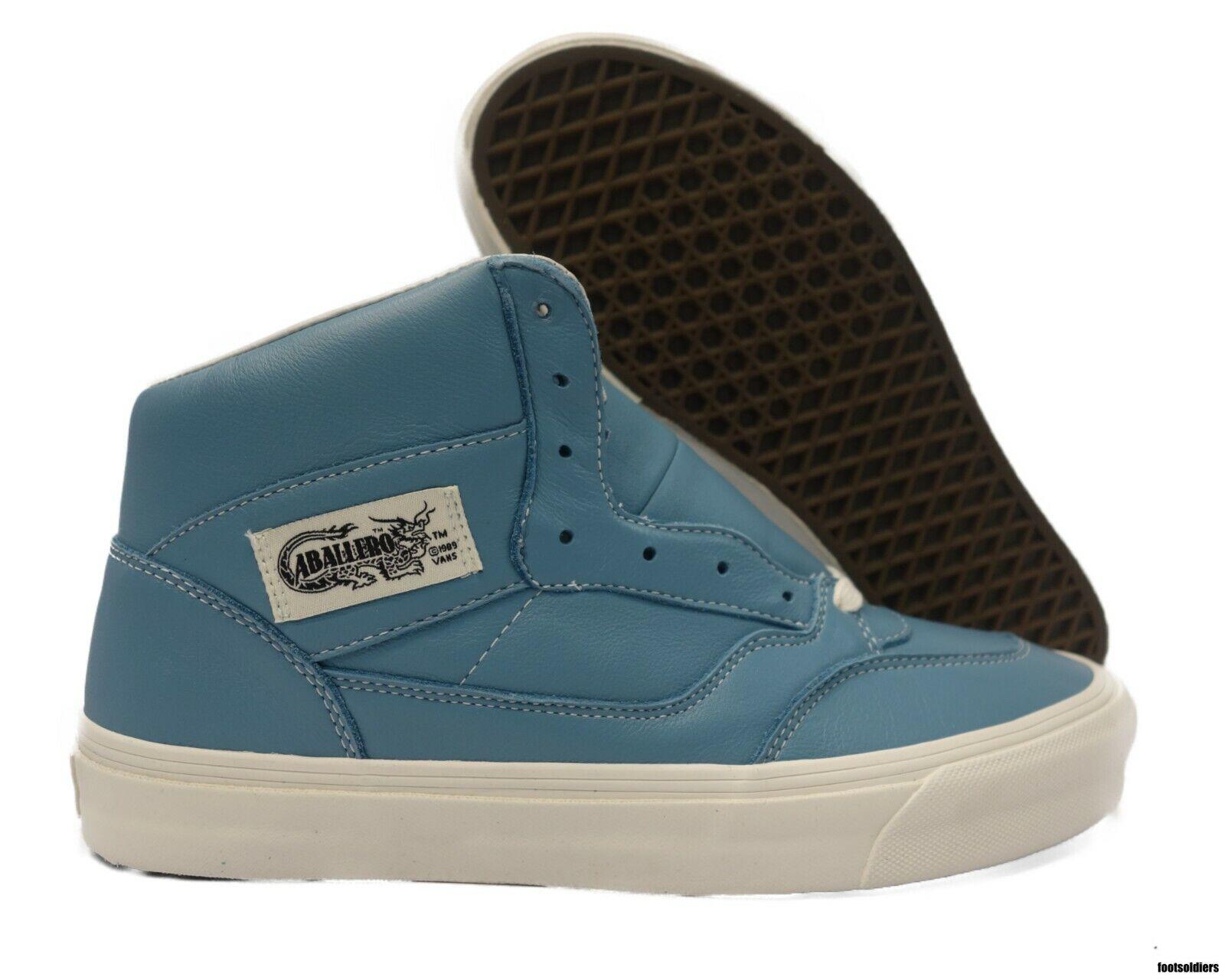 VN0A3JOZORQ Vans OG Full Cab LX Leather (Adriatic bluee) Men Size 9.5