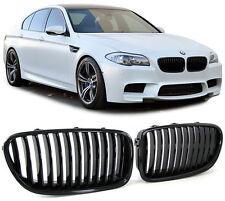 2 GRILLE DE CALANDRE NOIR BRILLANT BMW SERIE 5 F10 F11 520D 525D 530D 535D M M5