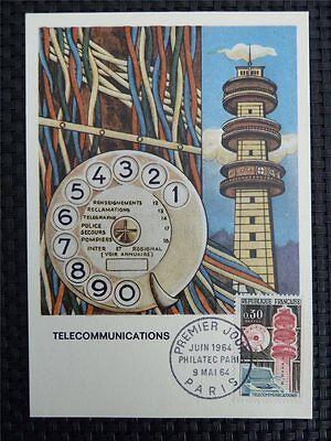 Motive Herrlich France Mk 1964 Telecommunication Phone Maximumkarte Maximum Card Mc Cm C1435