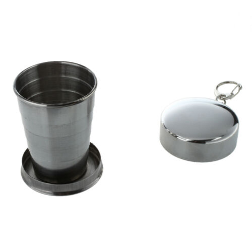 Portable Stainless Steel Collapsible Cup Hiking Camping KT