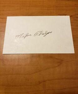 MIKE PHELPS - BOXER - AUTOGRAPH SIGNED - INDEX - LEAF LOA COA - A977