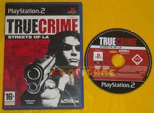 TRUE CRIME STREETS OF LA Ps2 Versione Ufficiale Italiana »»»»» SENZA MANUALE