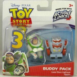 New-Toy-Story-3-Laser-Buzz-Lightyear-amp-Sparks-Buddy-Pack-Figure-set