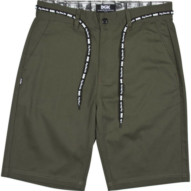 DGK Skateboards Chinos Pants Trousers Street Shorts Army Stretch IN 30