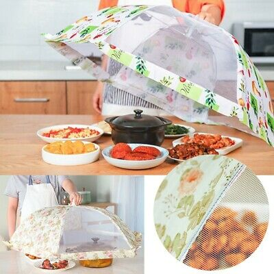 2x Collapsible Food Cover Pop Up Mesh Fly Wasp Net Party BBQ Kitchen Insect 30cm