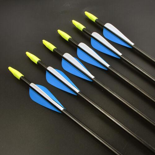 Details about  /31/'/' Achery Fiberglass Arrows Recurve Bow Outdoor Target Practice Hunt Shooting