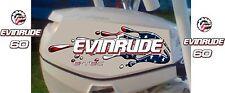 Evinrude Twin 40,50,60 And 90hp E-Tec USA Flag Splash Decal Kit