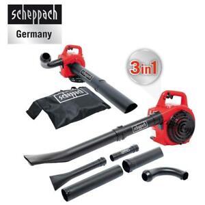 Scheppach-Benzin-Laubblaeser-LBH2600P-1PS-Motor-Laubsauger-Geblaese-Haecksler