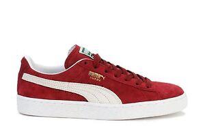 Image is loading Puma-Mens-Sneakers-Suede-Classic-Plus-Cabernet-White- 11ec212dc