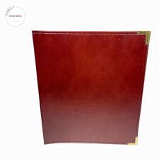 Vintage Usa Hazel Americas Case Maker Portfolio 3 D Ring Binder Dark Red