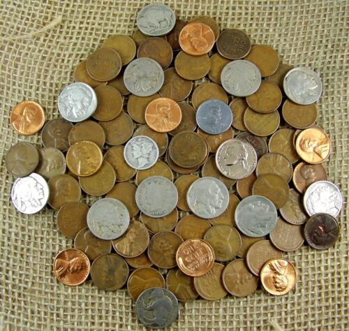 Starter Collection MIX Lot of 90 Plus OLD U.S Coins w//Some At 90/% Silver *3420