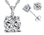 925-Sterling-Silver-Jewellery-Wedding-Jewelry-Set-Crystal-Necklace-amp-Earrings-UK thumbnail 2