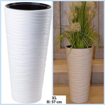 Brioso Portavaso Slim Circa Ondata 3d Effetto Vaso Bianco Porta Vaso Portavasi Xl-mostra Il Titolo Originale Lustro
