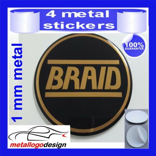 METAL STICKERS WHEELS CENTER CAPS Centro LLantas 4pcs BRAID 6