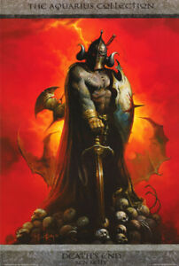 POSTER-FANTASY-DEATH-039-S-END-by-KEN-KELLY-1992-FREE-SHIPPING-24-044-RC44-O