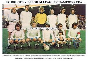 FC BRUGES TEAM PRINTS 1976 & 1977 (BELGIUM LEAGUE ...