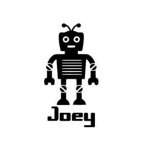 Robot Vinyl Decal for cars windows walls Yetti Water Bottles Crafts New Android