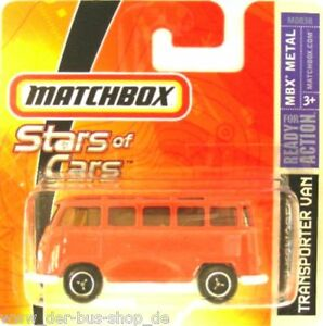 VW-Bus-T1-Modell-Matchbox-Samba-Orange-NEU-amp-OVP