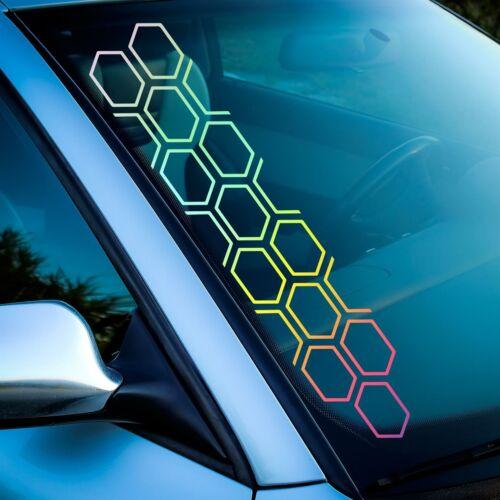 Waben Auto Aufkleber Sticker Hologramm Silber 55cm Außen Chrome Holo Farbwechsel