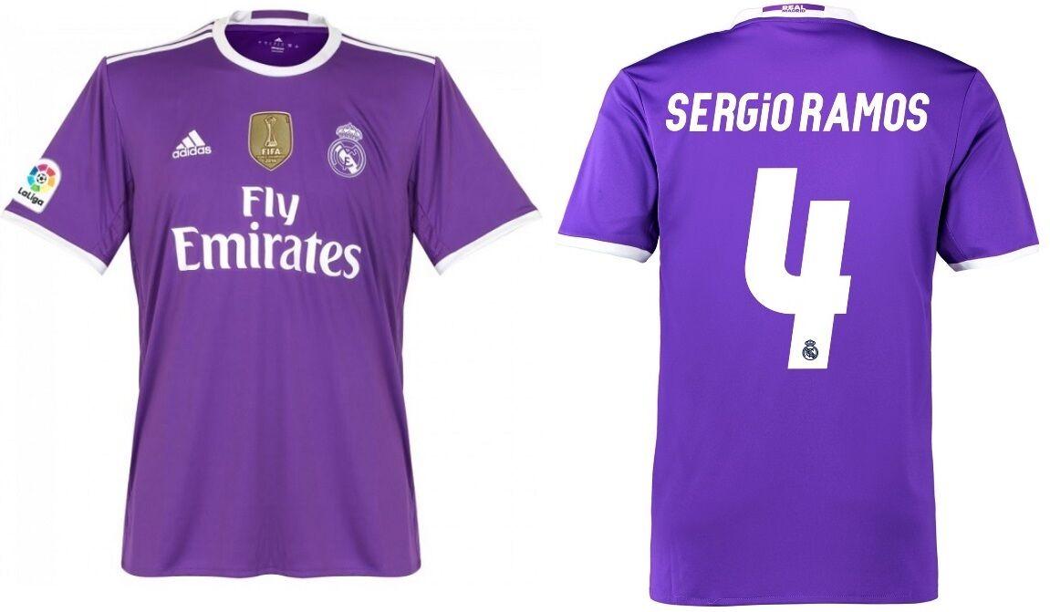 Trikot Adidas Real Madrid 2016-2017 Away WC Sergio Ramos - Badge Klubweltmeister