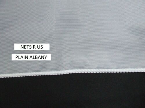 """114 cm Uni Blanc Filet Rideau pondérée Bas Drop 45/"""" £ 6.50 par mètre"""
