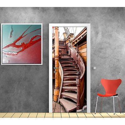 Wallpaper door escalier boat 857