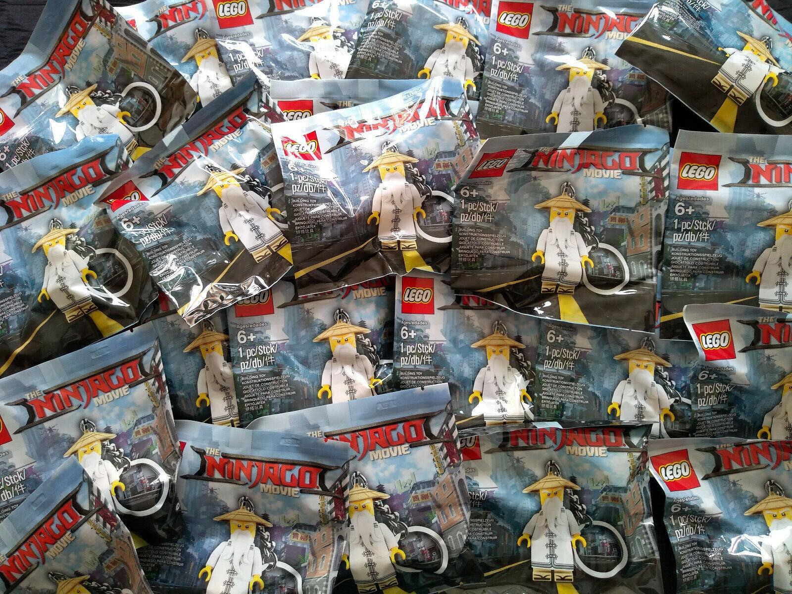 Lego Ninjago Movie Master Wu  Key chaîne 5004915 x 30 Polysacs Joblot BNIP  détaillants en ligne