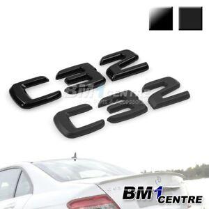 black rear boot trunk rear emblem badge c32 for mercedes. Black Bedroom Furniture Sets. Home Design Ideas