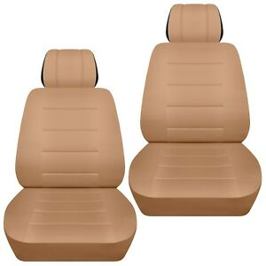 Fits-2009-2018-Honda-Jazz-front-set-car-seat-covers-tan