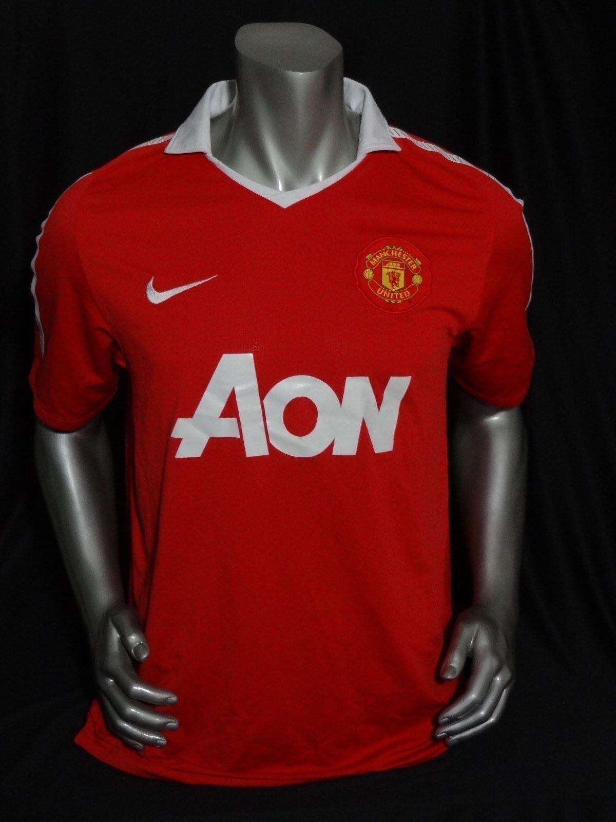 1bb30baf4 United home soccer 2010 11 size L Manchester jersey nvmbyj1144-Men ...
