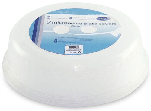 Lot de 2 Micro-ondes Food cover plate Ventilé éclaboussures Protection cuisine couvercle coffre NEUF