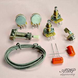 Kit-Control-Electronique-Les-Paul-Gibson-Epiphone-LP-Wiring-harness-Orange-Drop