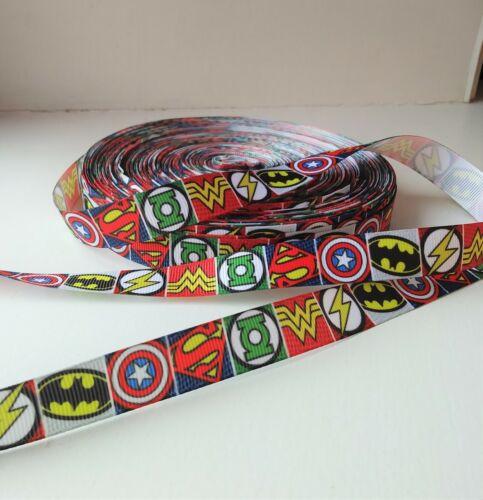Super-héros Batman Wonder Woman Captain America Superman Gros-Grain Ruban 16 Mm