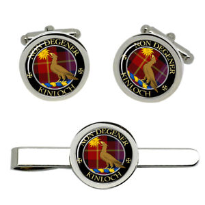 Kinloch-Scottish-Clan-Cufflinks-and-Tie-Clip-Set