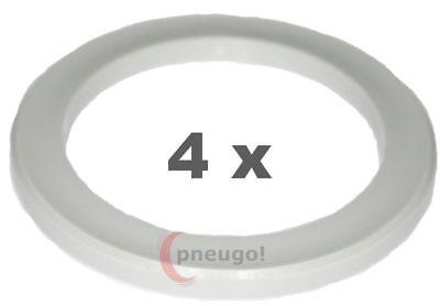 4 Stück Zentrierringe Kunststoff 76.0mm auf 54.1mm hellgrau