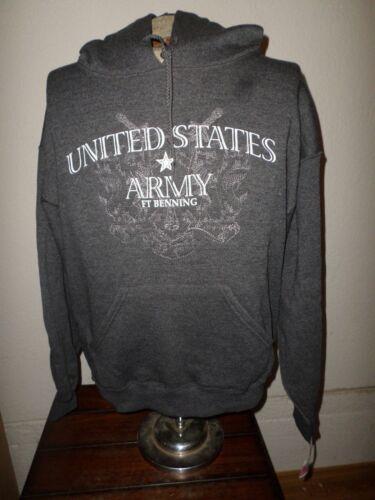 BENNING U.S MILITARY ARMY SWEATSHIRT PULL OVER HOODIE FLEECE LINED  MEDIUM FT