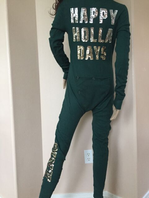 a53d3d262a5 VICTORIA S SECRET PINK CHRISTMAS HOLLA DAYS BLING THERMAL PAJAMAS LAR
