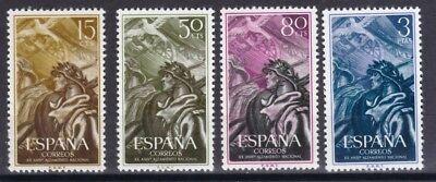 Diszipliniert Spanien 1956 Postfrisch Minr 1084-1087 20 Jahrestag Der Nationalen Erhebung Krankheiten Zu Verhindern Und Zu Heilen