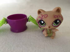 Littlest Pet Shop Postcard RACCOON Tattoo #1354 Tan Green Purple Swirl LPS