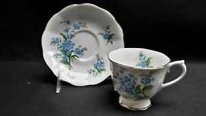 Royal-Albert-England-Bone-China-Forget-Me-Not-Cup-amp-Saucer
