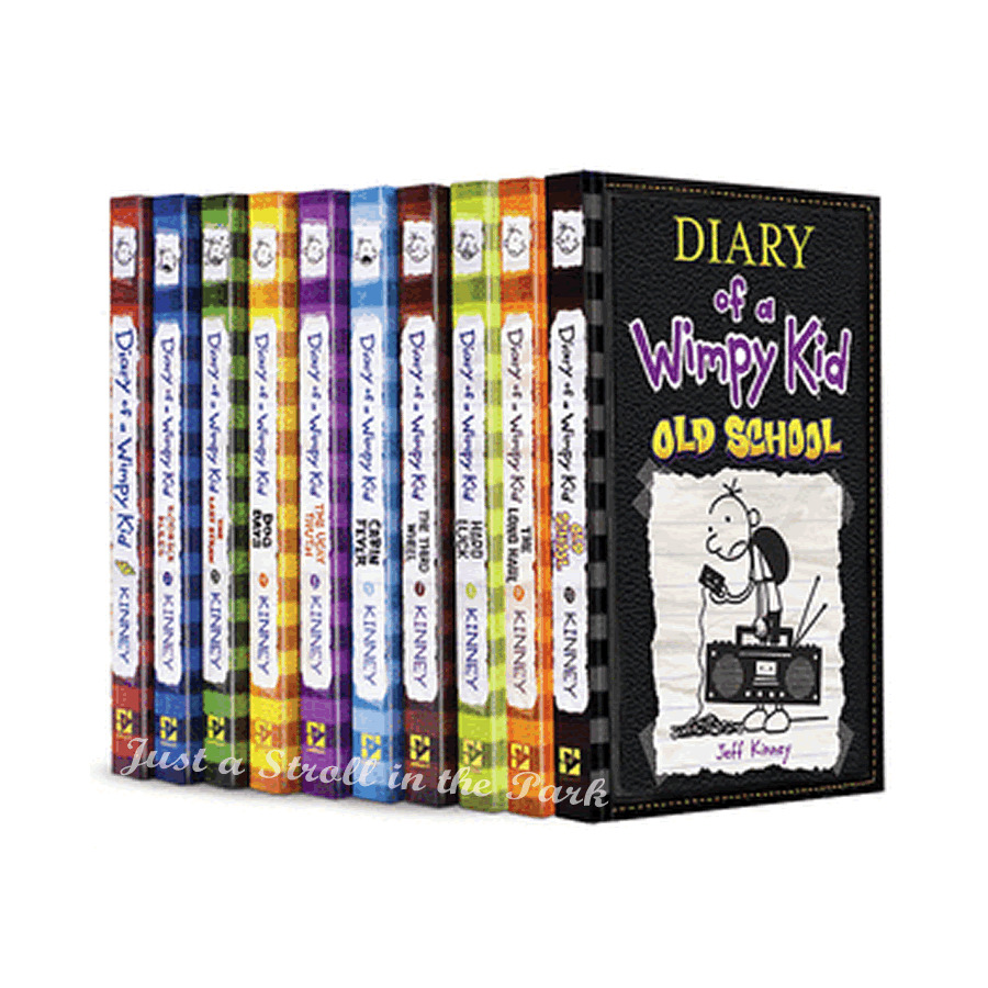 diary of a wimpy kid complete series hardcover books 1 10. Black Bedroom Furniture Sets. Home Design Ideas