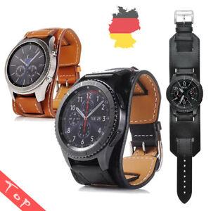22mm-Uhrenarmband-Leder-Armband-Strap-fur-Samsung-Gear-S3-Galaxy-Watch-46mm