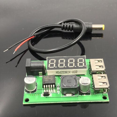 3 A DC-DC Buck Converter 12 V 24 V 36 V à 5 V Double Chargeur USB Step Down voltampèremètre