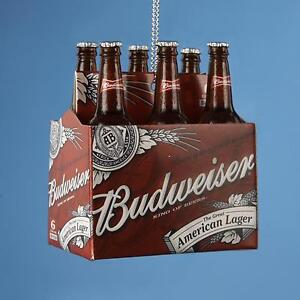 "2.75"" Happy Hour Budweiser 6-Pack of Bottled Beer Chris"
