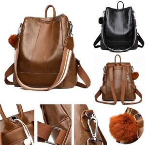 Fashion-Women-039-s-Backpack-Travel-PU-Leather-Handbag-Rucksack-School-Shoulder-Bag