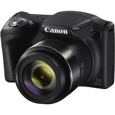 Canon PowerShot SX420 IS 20MP Digital Camera 42x Optical Zoom Black Wi-Fi / NFC