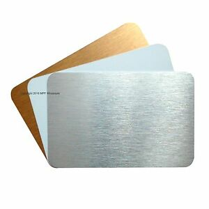 Blank aluminium metal business cards dye sublimation printing ebay image is loading blank aluminium metal business cards dye sublimation printing reheart Gallery