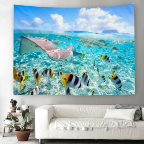 Ocean Fish Tapestry Wall Home Decoration Hanging Wall Blankets